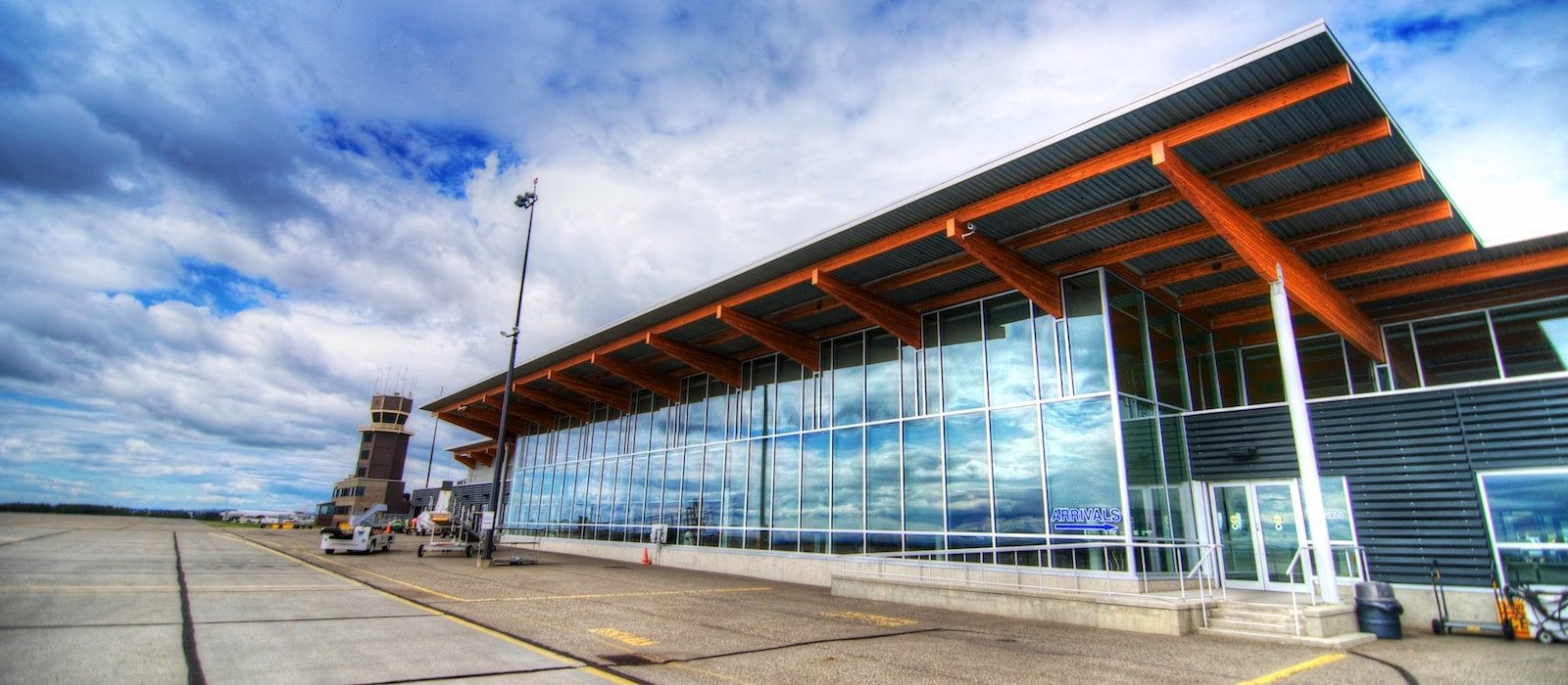 Exterior building of airport